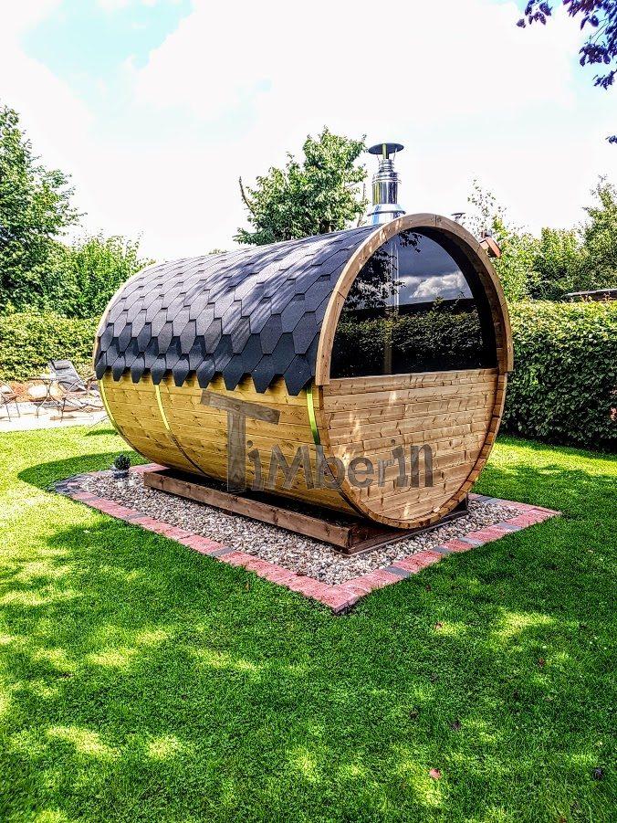 Sauna tonneau avec demi fenêtre panoramique