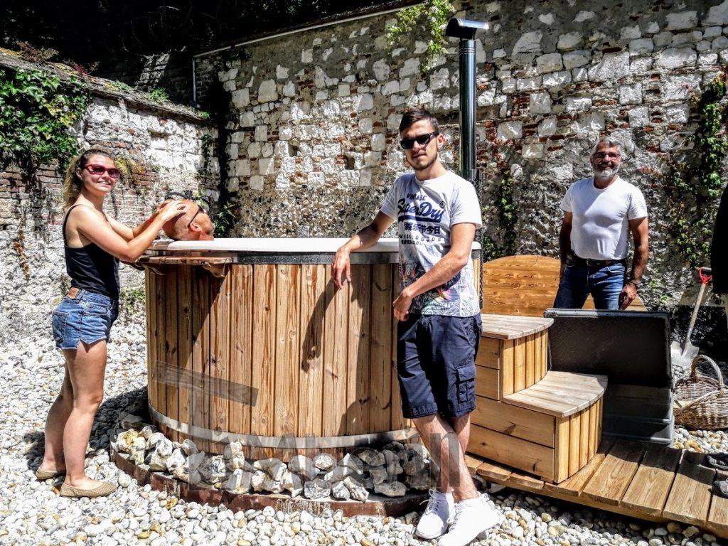 bain nordique en fibre de verre en France