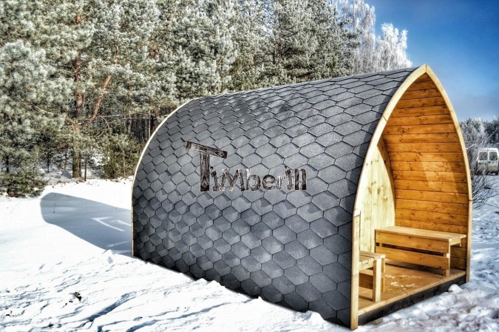 Sauna Iglu avec demi fenêtre panoramique