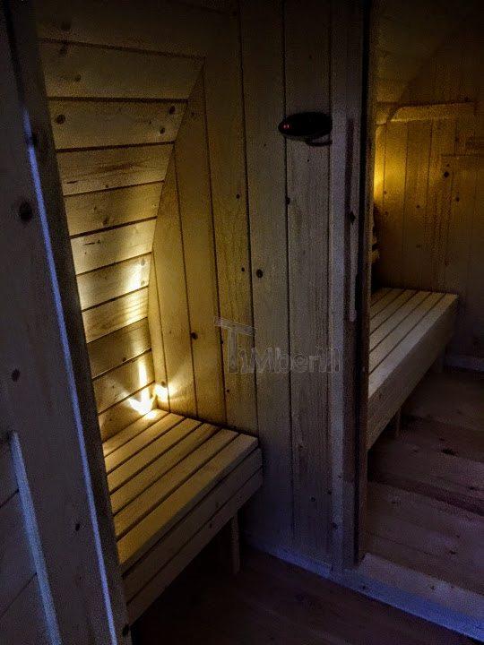 Sauna extérieur en KIT - le vestiaire