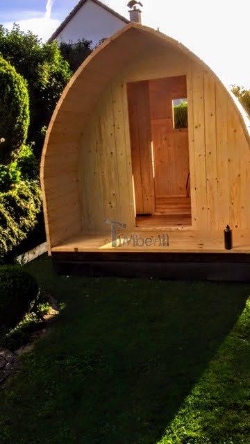 Kit sauna extérieur - l'installation de la porte