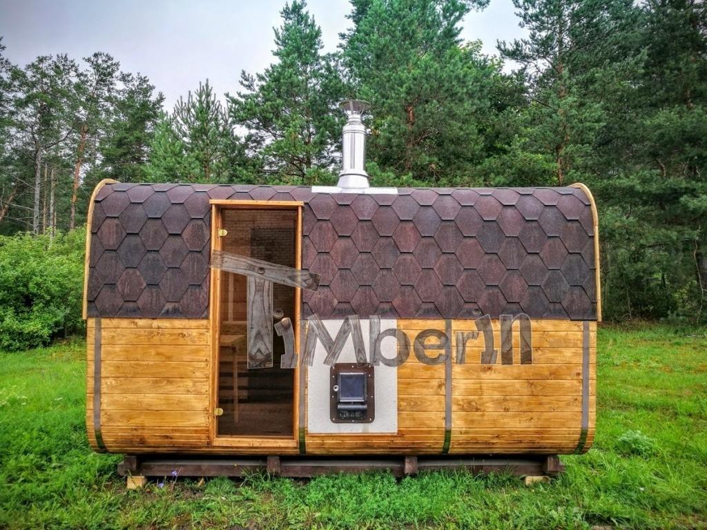 Sauna rectangulaire en bois carré