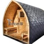 Jardin extérieur sauna en bois Igloo design